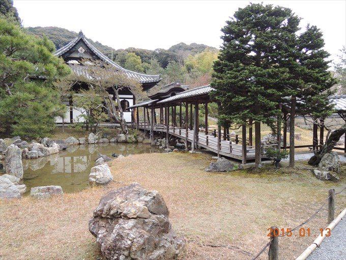 16高台寺えん月池と開山堂(右は観月台)