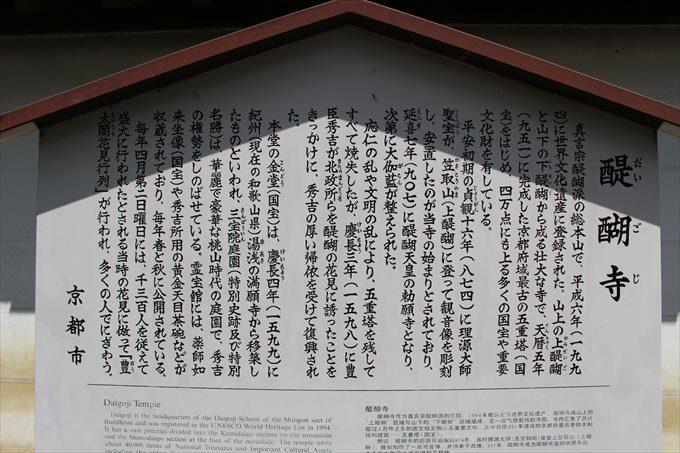 4醍醐寺の立て札