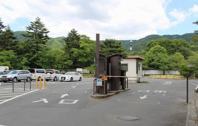 0醍醐寺の併設駐車場