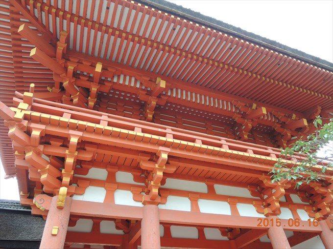 19楼門の屋根の裏側