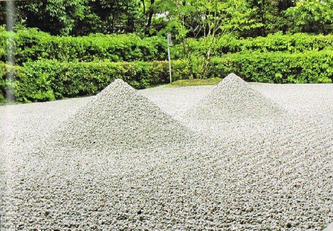 4方丈南庭の盛砂