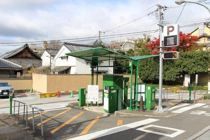 1建仁寺の駐車場