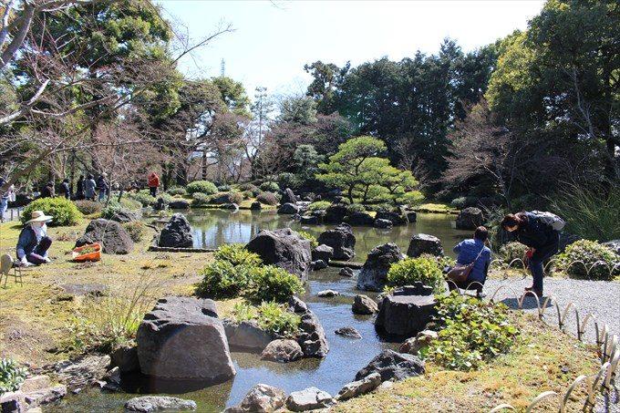 45平安の庭の池