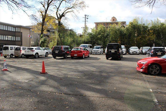 46下鴨神社の駐車場
