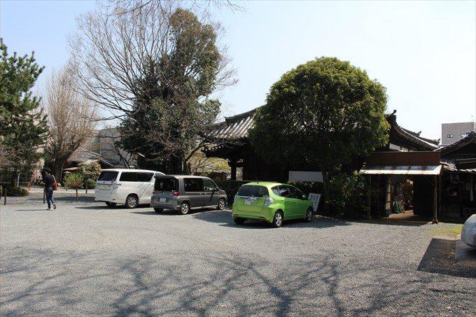 40千本釈迦堂の駐車場