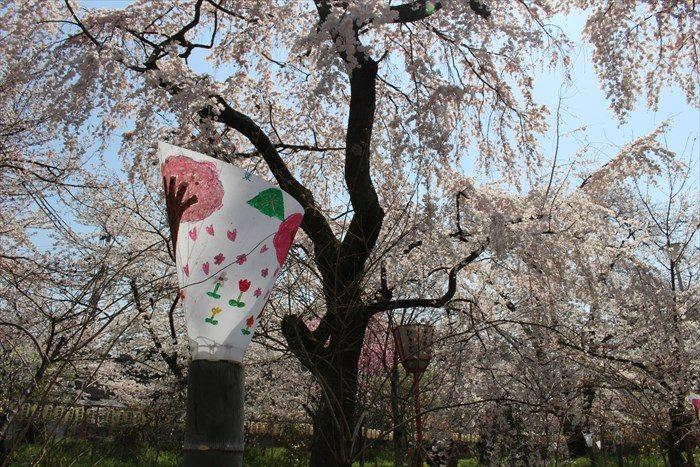 45桜苑の手書きのライト?