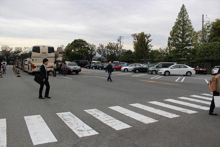 三十三間堂の駐車場